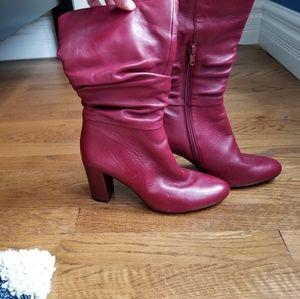Anne Klein Red Boots